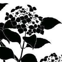 紫陽花eシルエット 和風デザイン和柄素材なら Wagara Design Navi