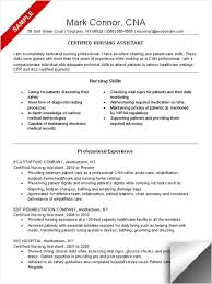 cna resume sample nursing skills and professional experience job skills