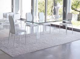 extended glass dining table. unico modern tecno extending dining table choice of colour and size - view 1 extended glass l