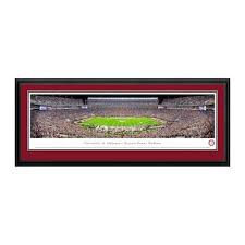 alabama crimson tide 18 x 44 deluxe frame panorama wall art on alabama elephant wall art with alabama crimson tide collectible vintage framed photos pictures
