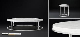 Smart round marble top coffee table. Nicholas Marble Round Coffee Table Collection Rh