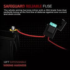 mictuning mic b1002 led light bar wiring harness, fuse 40a relay Mictuning Wiring Harness mictuning mic b1002 led light bar wiring harness mictuning wiring harness installation