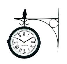 outdoor wall clocks with temperature and humidity outdoor wall clocks medium image for metal garden clocks