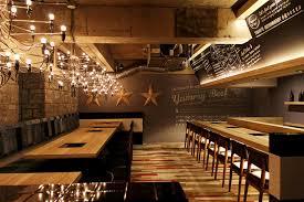unique lighting ideas. Simple Restaurant Remodelling With Unique Lighting Ideas And Modern Wooden Furniture Design
