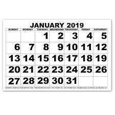 print a calendar 2019 maxiaids low vision print calendar 2019