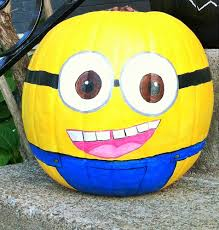 Painted Minion Pumpkins Chalkboard Pumpkins A Place For You And Me