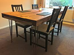 diy tutorial rustic dining table with hairpin legs by the hairpin leg pany