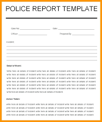 Police Reports Template Beautiful Police Reports Template Pictures
