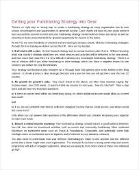 Fundraising Plan Template Fundraising Strategy Template 6 Free Word Pdf Document