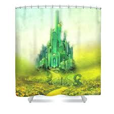 emerald city shower curtain featuring the painting by mo t target