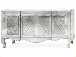 clear venetian mirrored sideboard with etched diamond pattern
