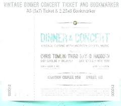 Benefit Ticket Template Banquet Ticket Template