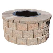 h rockwall round fire pit kit