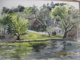 plein air watercolor paintings of long island parks