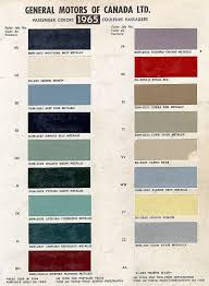 1965 Chevelle Paint Charts And Codes
