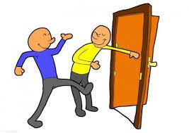hold the door open