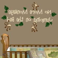 trendy no more monkeys jumping on the bed nursery wall decal regarding no more