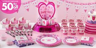 Patterned Tableware 50% off MSRP  It's a Girl Baby Shower Party Supplies  ...