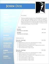 Modern Resume Templates Resume Template Free Download Latest
