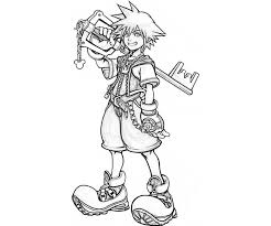 Small Picture Printable Kingdom Hearts Coloring Pages Coloring Me with Kingdom