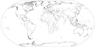 World Map Coloring Page Printable Coloring Page For Kids