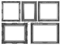 antique black frame. Old Antique Black Frame Isolated Decorative Carved Wood Stand  Frame On White Background Antique Black A
