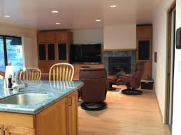 ... Fancy Kitchen Decoration Ideas Using Brazilian Cherry Wood Kitchen  Cabinet : Artistic Living Room And Kitchen ...