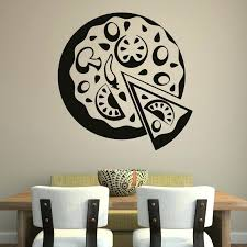 food wall pizza decor food cafe wall art decal stickers food wallet tullamore number