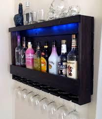 Alcohol Cabinet Wine Rack Rustic Liquor Cabinet Optional Led Lights 200