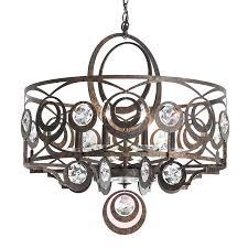 bronze coloured crystal hanging light gwynn 8583051 01