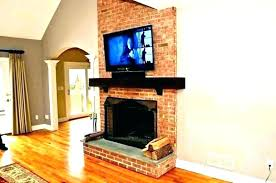 how to install tv above fireplace mount brick