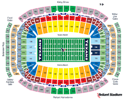 Reliant Seating Chart Football Nrg Stadium History Photos More Of The Site Of Super