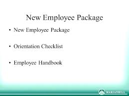 New Hire Packet Template Employment Awesome Package Free