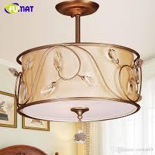 fumat k9 crystal chandeliers nordic vintage metal lamps for living room dining room hanging lights fabric crystal chandelier pendant lighting for kitchen
