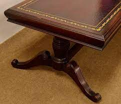 Vintage 1940 s duncan phyfe mahogany drop leaf table 6 chairs. Lot Leather Top Mahogany Duncan Phyfe Coffee Table