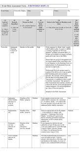 Risk Assessment Form Sample Event Risk Assessment Form 12