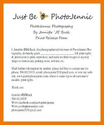 Sample Print Release Form Photography – Home Of Sproutandsage