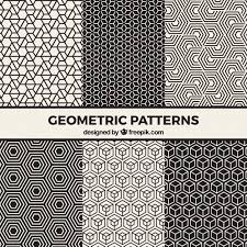 Black Patterns Interesting Collection Of Black And White Geometric Patterns Vector Free Download