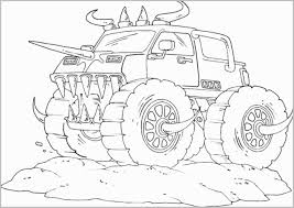 Free Monster Truck Coloring Pages To Print Unique Monster Truck