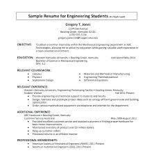 Resume Template For Internship Resume Standard Format Sample Internship Resumes