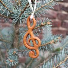 Christbaumschmuck Aus Holz Notenschlüssel Geschenkanhänger