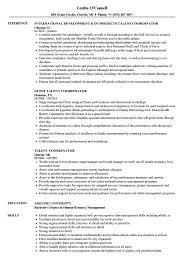 Hr Coordinator Cv Sample Talent Coordinator Resume Samples Velvet Jobs