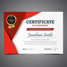 Plantilla De Certificado Rojo Y Blanco Descargar Vectores Gratis