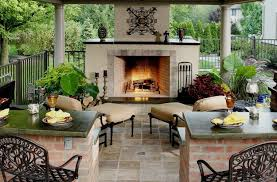 stucco outdoor fireplace outdoor fireplace wood landscape services hilliard oh