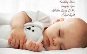 cute good night baby image good night