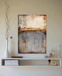 distressed color large abstract wall art simple ideas incredible designing rectangular shape hanging silver color sofa