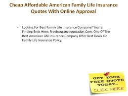 Quote Life Insurance Family Life Insurance Quotes Life Insurance In American Family Term 89
