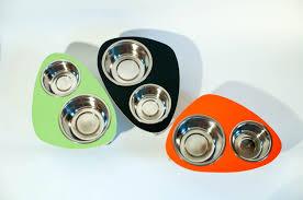 midcentury modern dog bowls  modular