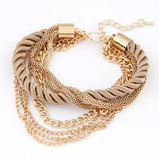 low key luxury european and american fashion m gray woven multilayer bracelet fashion bracelets bracelets bangles fashion jewelry jewelry whole