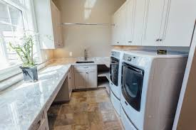 laundry office. Custom Taupe Laundry Room Cabinetry - \u0026 Millwork, Specializing In Kitchen Cabinetry, Office N